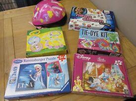 Bundle of girl's activities and jigsaws