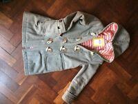 Mini Boden grey duffle coat age 7-8