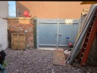 Yard with 20ft container for rent in Leith - can be rented with or without office space.