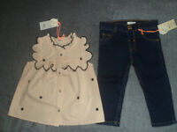 Baby girls River Island new set of clothes ( top and jeans) 6-9 months