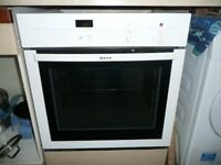NEFF ELECTRIC FAN OVEN, NEFF 5 RING GAS HOB AND HOTPOINT EXTRACTOR FAN