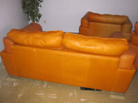 Leather Sofas 3+2+1 Seater 100% Genuine Leather from DFS