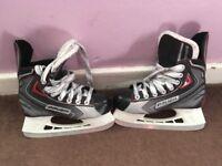 bauer vapor ice hockey boots size 2.5 kids