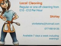 Local cleaning from £10-£12 per hour