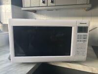 White Panasonic Microwave