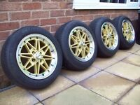 "15"" CALIBRE ALLOYS - 4X100 - VAUXHALL - FIAT - ROVER - MINI - SEAT - BMW - MAZDA - AND LOTS MORE"