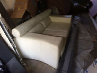 White leather sofa, good condition, used