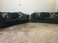 Grey Harvey's 3 seater sofas x 2 couches, furniture 🚛🚚🚛
