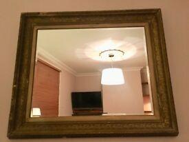 Large Gold Gilt Framed Mirror 113cm x 95cm