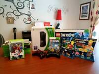 Xbox 360 with 2 controllers and 23 games