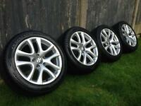 "17"" VW Volkswagen Sirocco Donnington Alloy wheels and tyres"