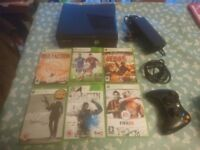Xbox 360 Slim Console with 250gb hard drive , 1x controller + 6x games