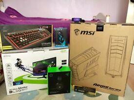 Gaming desktop + monitor +keyboard+mouse+mousepad+ headset+camera