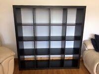 IKEA brown-black shelving unit