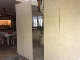 Cream Marble Effect Retro Double Wardrobe's & Mirror Single Wardrobe RRP £1700