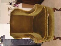 antique winged fireside chair