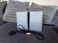 Acoustic solutions bluetooth wireless bookshelf speakers.