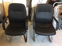 2 x Office chairs plus matching high back swivel chair BRAND NEW!!