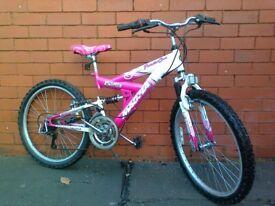 Magna mountain bike - full suspension , bike stand !