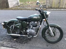 Royal Enfield classic green.