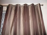 """EYELET HEAVY CURTAINS THICK THERMAL LINING 86 """" DROP 66"""" WIDE"""