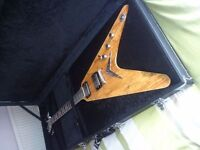 DEAN flying V with Dean hard case