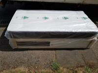 Brand New Single Quilted matt and Full storage Divan bed set FREE delivery