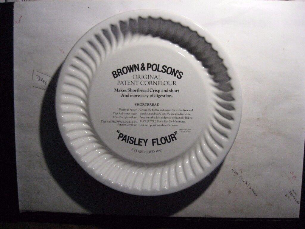 VINTAGE BROWN & POLSON PAISLEY FLOUR SCOTTISH SHORTBREAD MOULD BAKING TRAY
