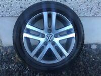 16INCH 5/112 GENUINE VW ALLOY WHEELS WITH TYRES FIT AUDI SEAT SKODA ETC