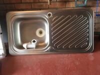Stainless steek sink and taps