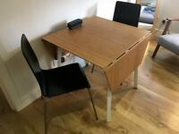 Ikea PS 2012 Bamboo Drop-Leaf Table plus two chairs - £85 (or best offer)
