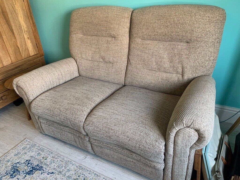 Enjoyable Oak Furnitureland Two Seater Electric Recliner Sofa And Matching Footstool In Braunton Devon Gumtree Pabps2019 Chair Design Images Pabps2019Com