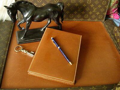 Rare Vintage Gucci Leather Desk Organizer Tablet Notebook Agenda Gg Accessory
