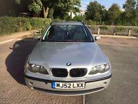 BMW 3 Series 2.0 318i SE Touring 5dr 2002 (52 reg), Estate + MOT April 2017