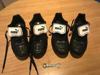 2 pairs puma king boots size 8 moulds and studs