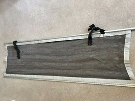Motorhome Overcab Bed/Caravan Bunkbed Net Guard 1800x580mm c/w fittings (as new)
