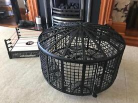 WWE ring, cage and figures