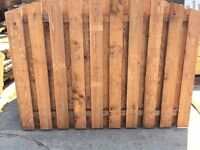heavy duty double sided arched top timber fence panels top quality