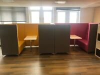 Office furniture sale - desks, whiteboards, monitors, laptops, tables and lots more, all must go