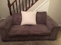 Grey DFS sofa with double pull out bed