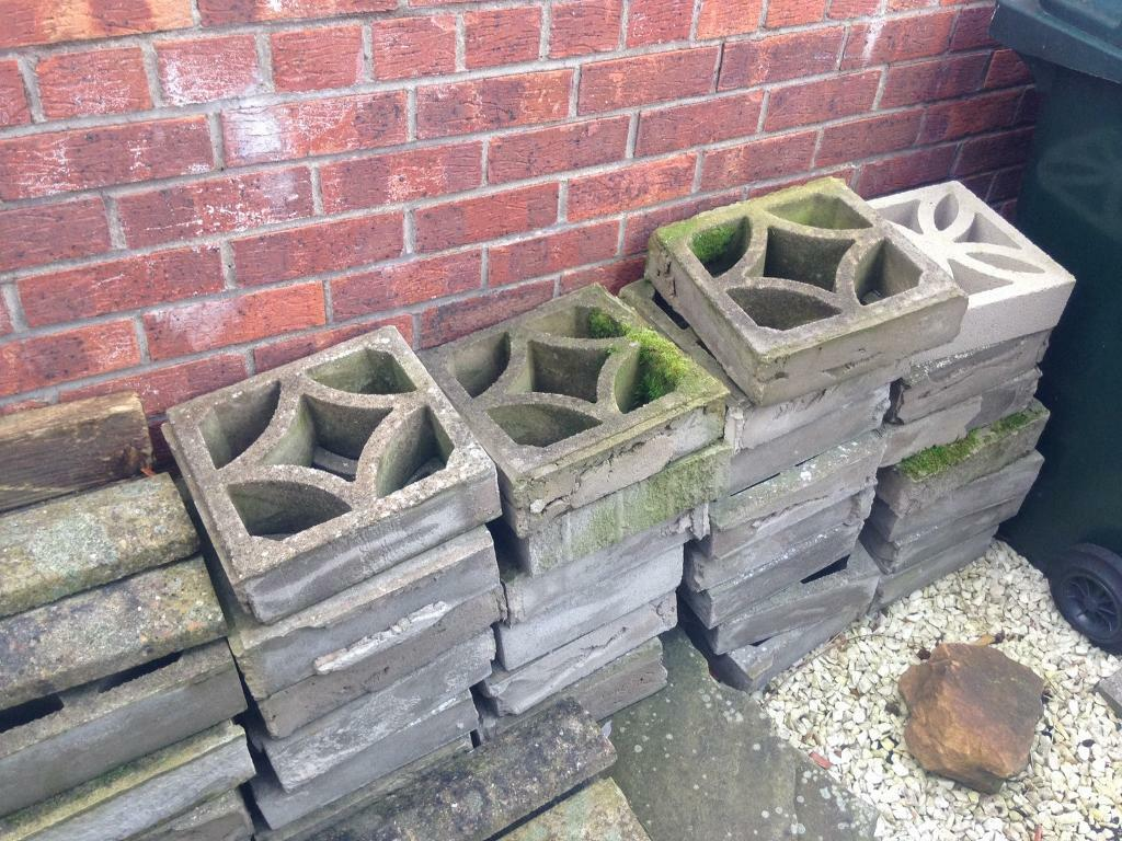 decorative concrete blocks bricks garden wall | in newcastle, tyne