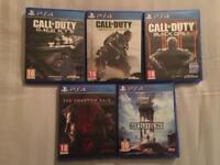 5 PlayStation4 games all boxed £30 No delivery's ( collection only ).