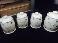 Tea,coffee,sugar&biscuits jars