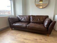 Large Leather Sofa, Marks & Spencer £50