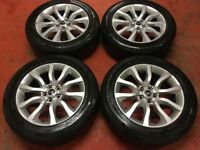 20'' GENUINE RANGE ROVER SPORT ALLOYS WHEELS ALLOY 10 SPOKE TYRES 255 55 DISCOVERY LAND