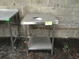 Stainless steel catering bench