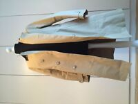 Mackintosh Khaki Rubberised Cotton Waterproof Trench Coat Raincoat With Detachable Lining Size 42