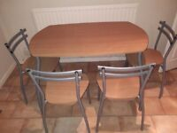 Kitchen table and 4 chairs