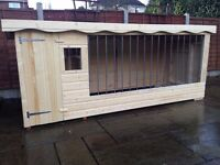 Brand new extra large dog kennel and run with galvanised bars and window - PRICE DROP