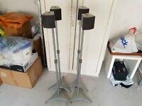 4 x Sony SS-TS300 speakers with stands and cables